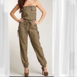 Rampage olive green jumpsuit